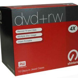 Shintaro DVD+RW 4.7GB 4X i10Pk (inkjet) (SH4.7RW4IJ+10P)