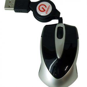 Shintaro Notebook Mini Optical Mouse w/ retractable cable (SHM02)