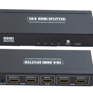 1x HDMI IN – 4x HDMI OUT Splitter (HDMISP4P)